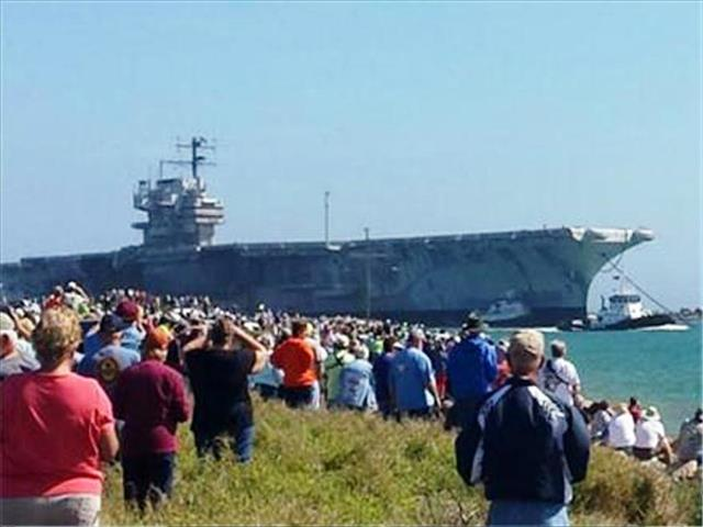 STATUS OF USS FORRESTAL: AVT-59 Feb 18 2014 arriving 13