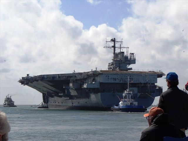 STATUS OF USS FORRESTAL: AVT-59 Feb 18 2014 arriving 66 stern