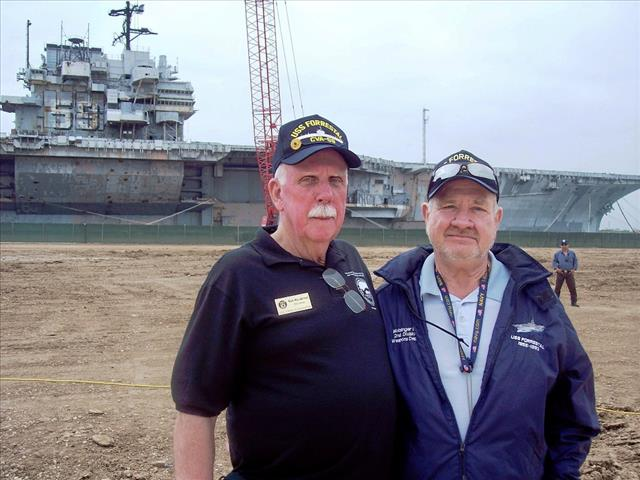 STATUS OF USS FORRESTAL: Ken and Buddy Motsinger inBrownsville, TX March 1, 2014 18