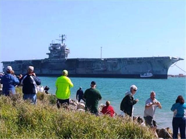 STATUS OF USS FORRESTAL: AVT-59 Feb 18 2014 arriving 15