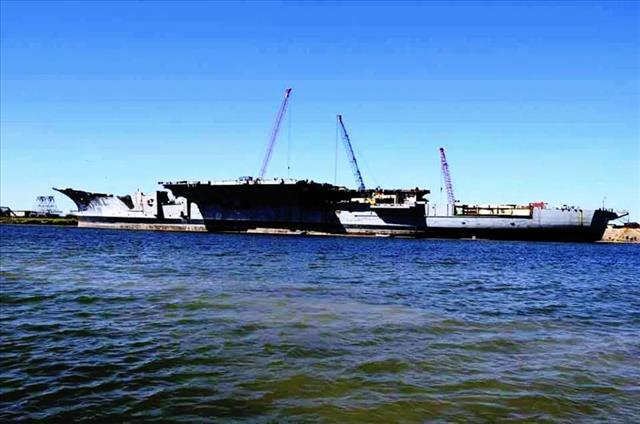 STATUS OF USS FORRESTAL: AVT-59 Brownsville, TX scrapping continues