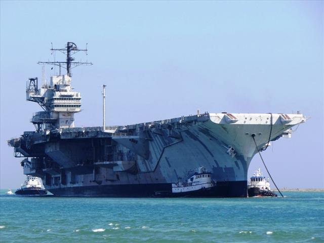 STATUS OF USS FORRESTAL: AVT-59 Feb 18 2014 arriving 64 bow