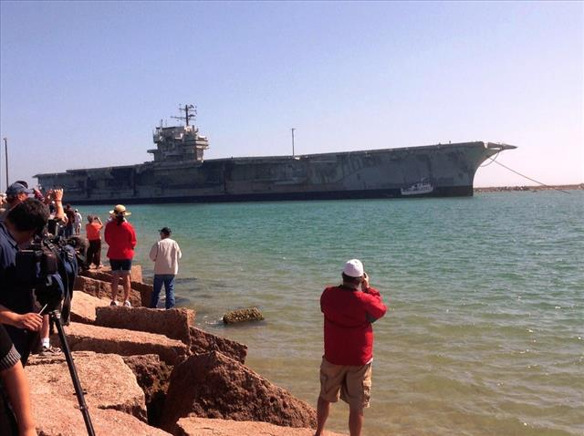 STATUS OF USS FORRESTAL: AVT-59 Feb 18 2014 arriving 9