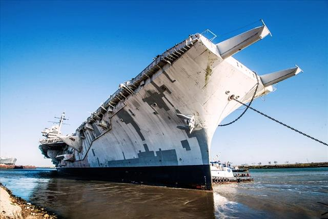 STATUS OF USS FORRESTAL: AVT-59 Brownsville Feb 28 2014 31 bow