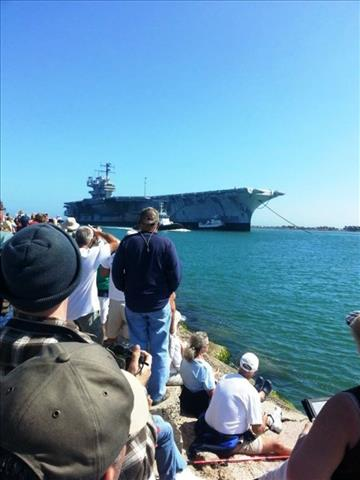 STATUS OF USS FORRESTAL: AVT-59 Feb 18 2014 arriving 120